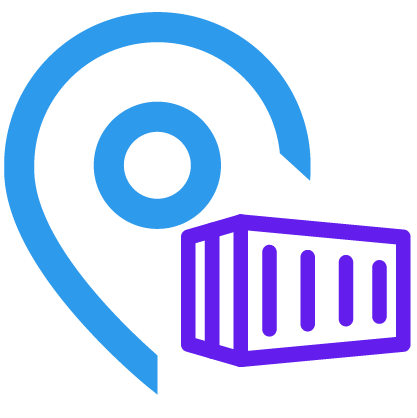 Container storage with map integration